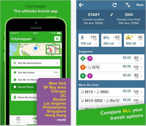citymapper, l'app de transport urbain