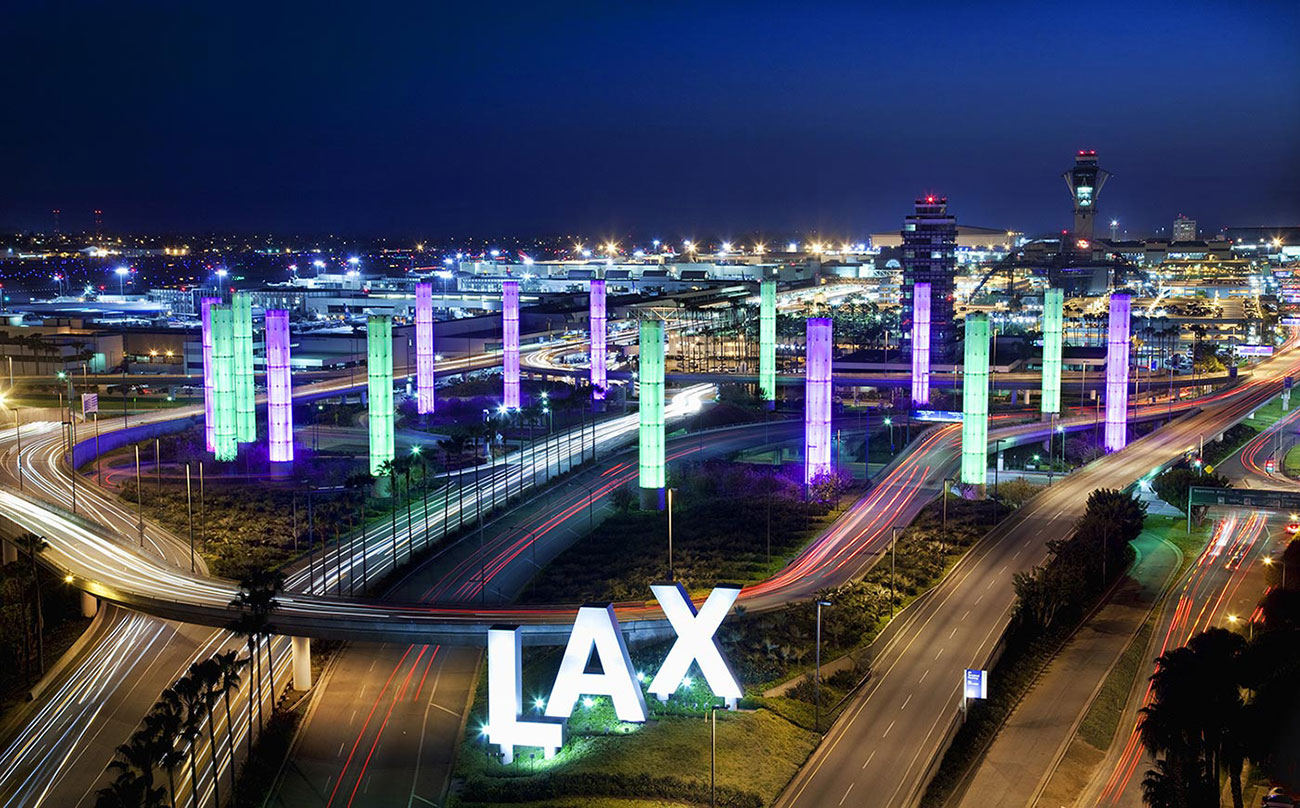 LAX, aéroport international de Los Angeles, USA
