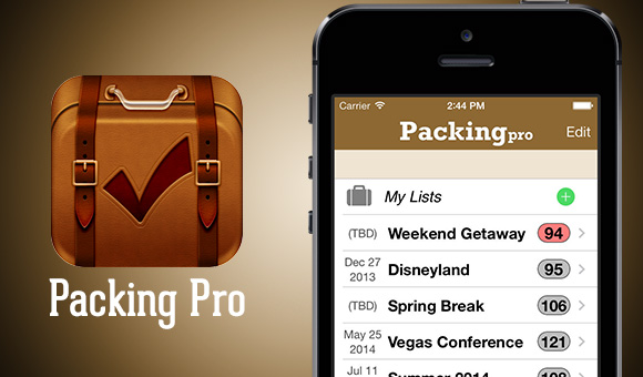 packing pro : appli iOS