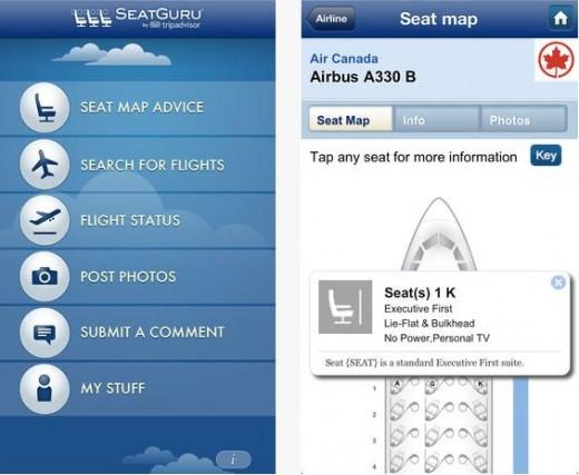 Seat guru, choisir la meilleur place en avion