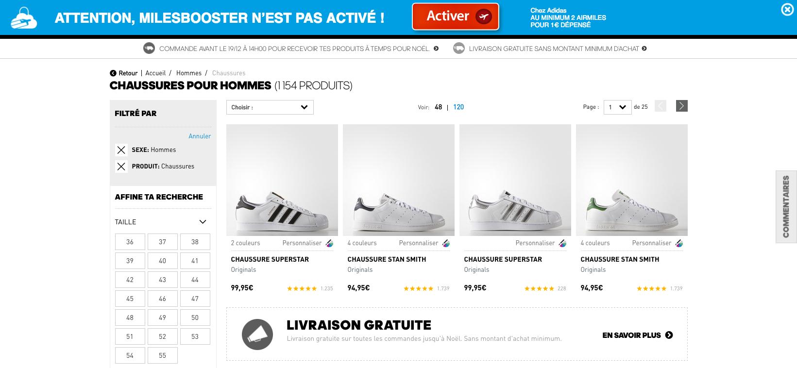 Activez MilesBooster avant votre achat