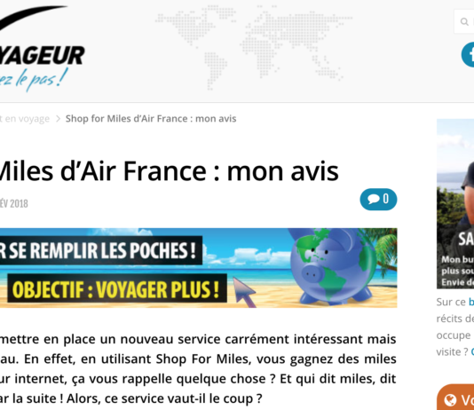 Shop for Miles Air France