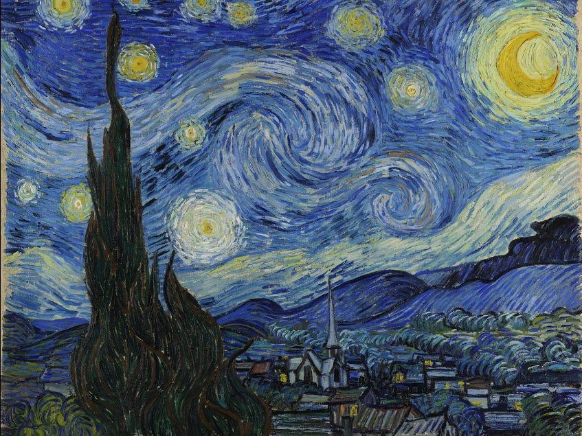 """Le MoMA abrite """"La nuit étoilée"""" de Vincent van Gogh. - Occuper ses enfants pendant le confinement"""