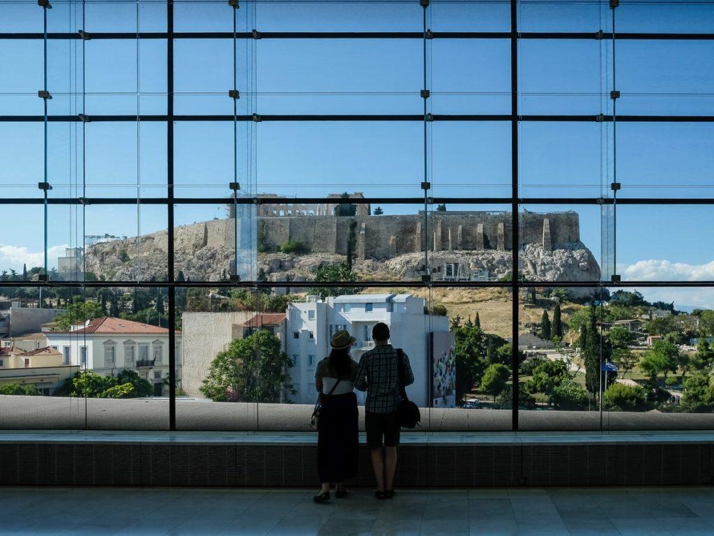 Une vue du Musée de l'Acropole d'Athènes, Grèce. - Occuper ses enfants pendant le confinement